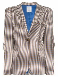 Rosie Assoulin deconstructed gathered back blazer - Brown