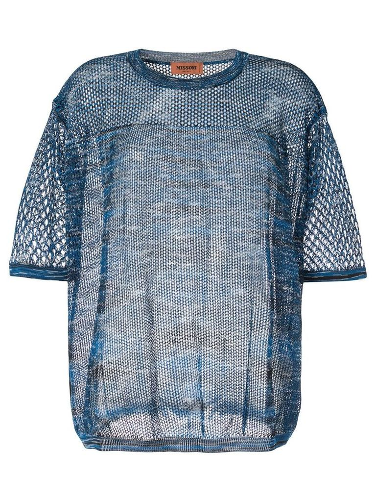 Missoni loose knit top - Blue