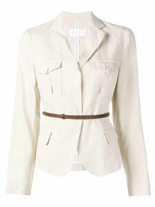 Fabiana Filippi belted blazer jacket - Neutrals