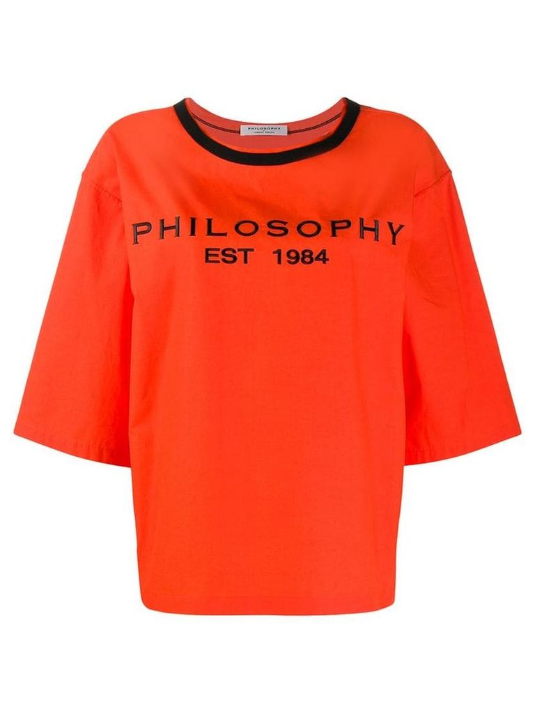 Philosophy Di Lorenzo Serafini oversized logo T-shirt - Orange