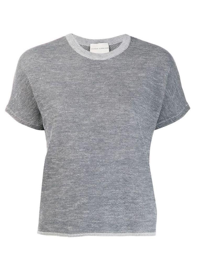 Stephan Schneider speckled knit top - Grey