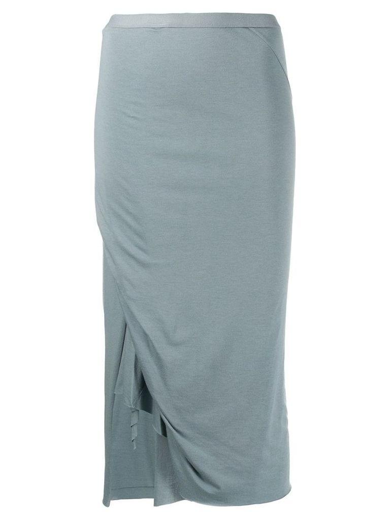 Rick Owens Lilies asymmetric midi skirt - Blue