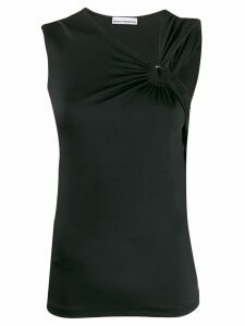 Paco Rabanne ring detail vest top - Black