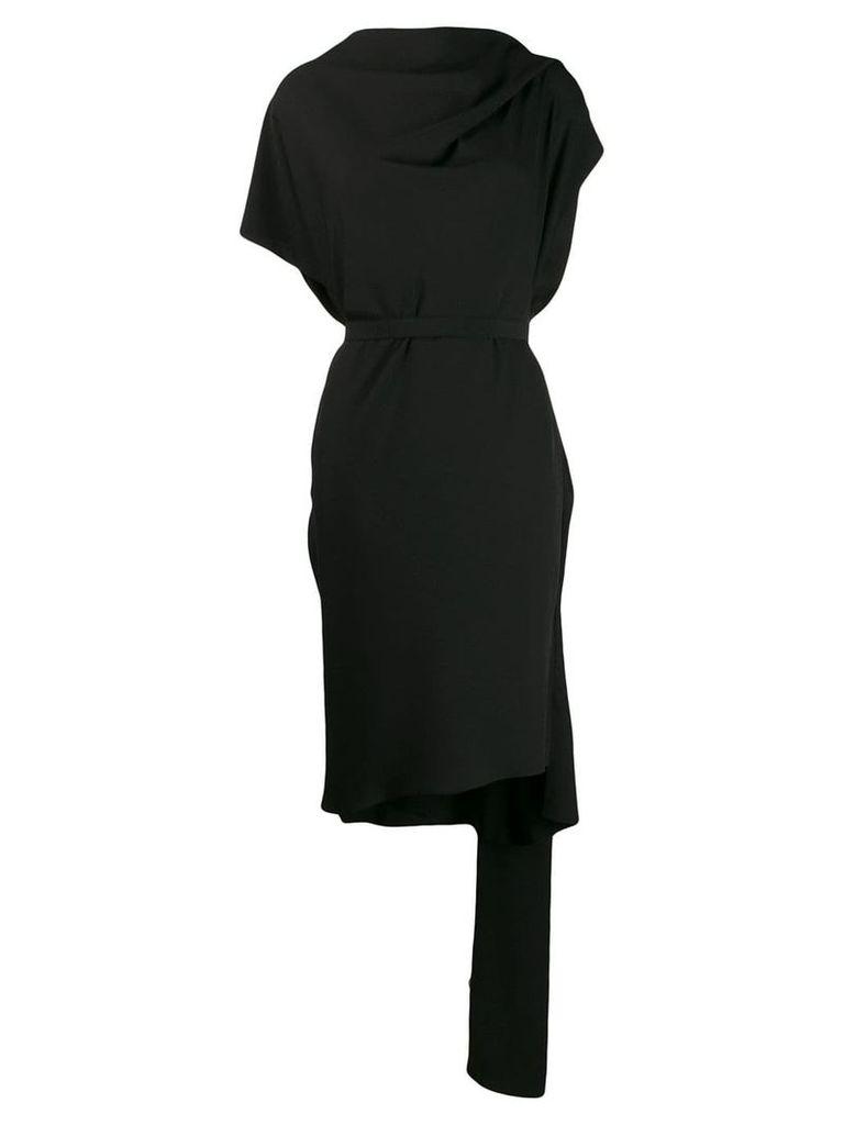 Poiret deconstructed tie waist dress - Black