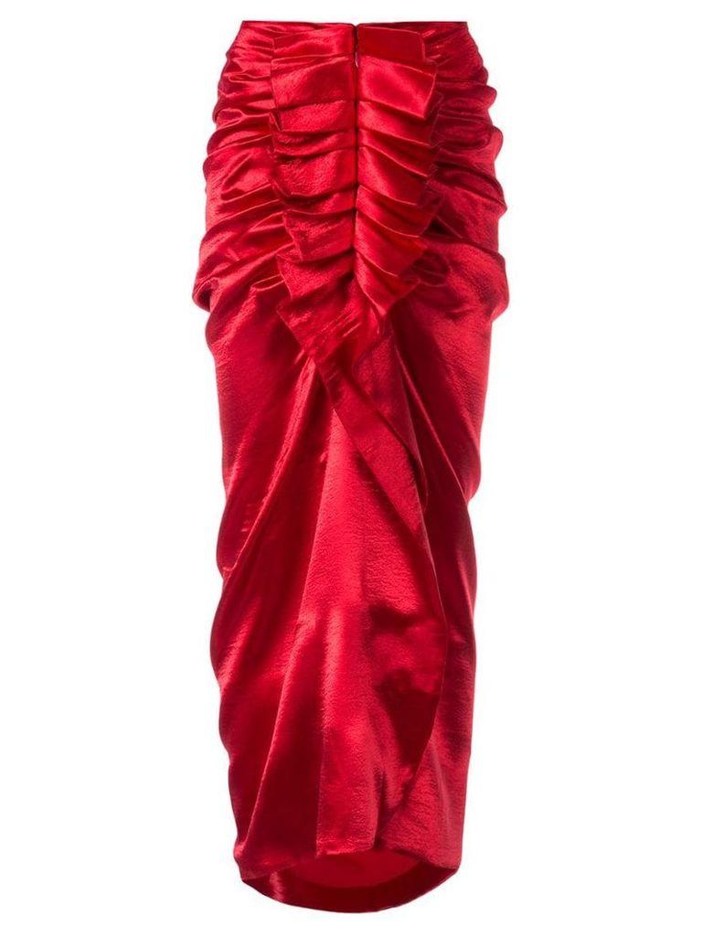 Manish Arora ruffled midi skirt - Red
