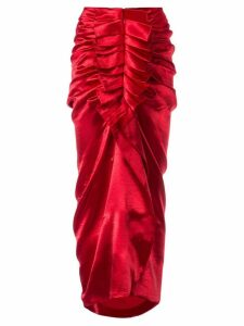 Manish Arora ruffled midi skirt - Red