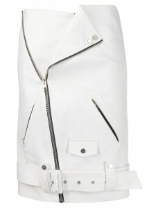 Zilver Biker Skirt in Recycled Denim - White