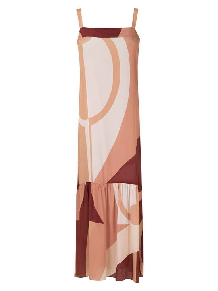 Adriana Degreas maxi printed dress - Multicolour