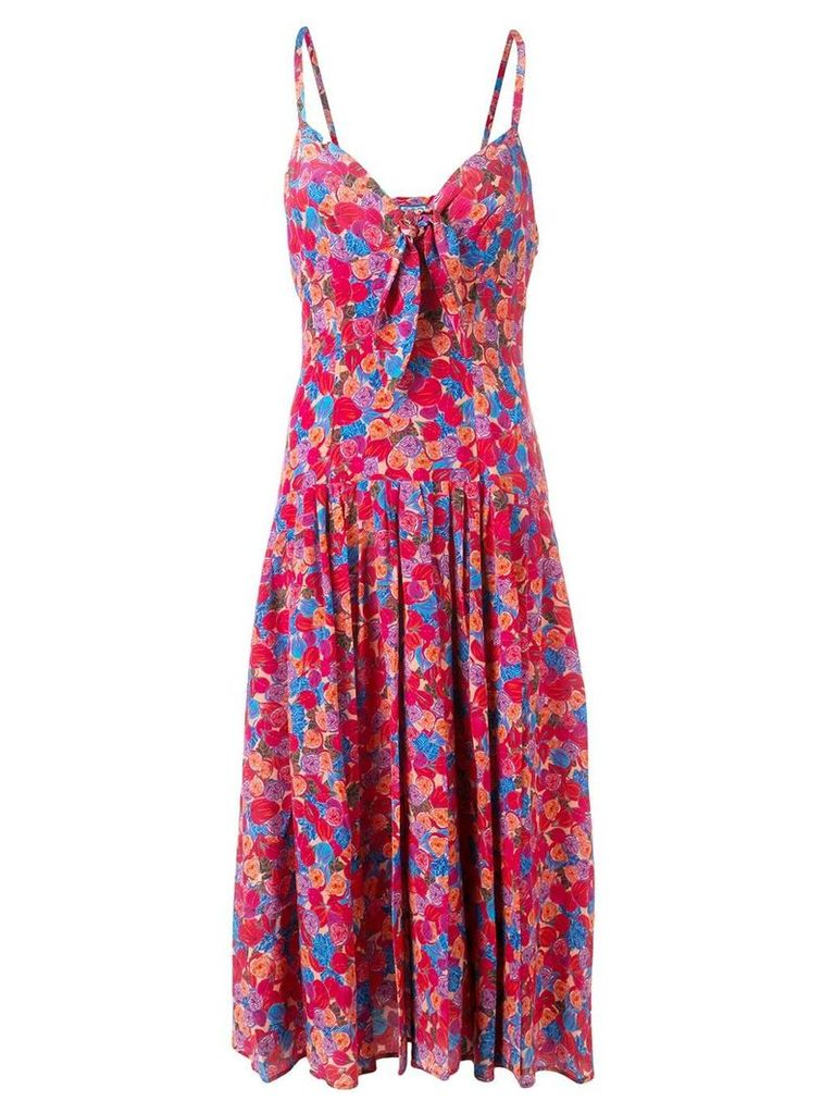 Lhd floral print strappy midi dress - Pink