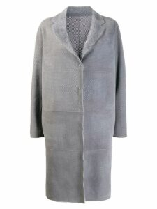 Fabiana Filippi perforated single breasted coat - Grey