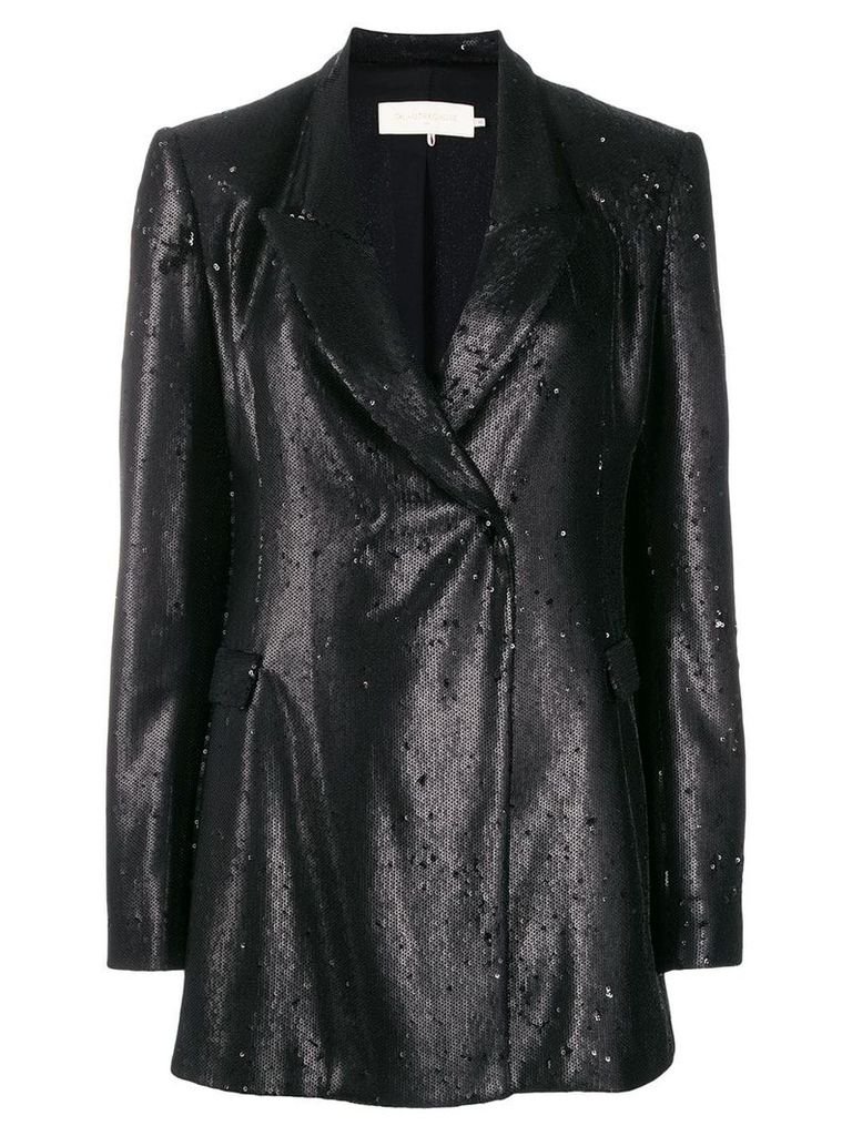 L'Autre Chose sequin blazer - Black