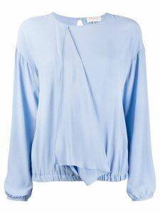 L'Autre Chose draped front blouse - Blue