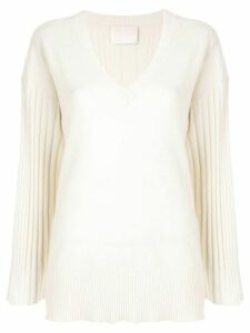 Dion Lee corrugated pleat jumper - White
