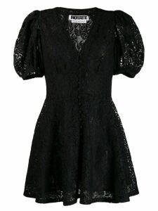 Rotate lace flared dress - Black
