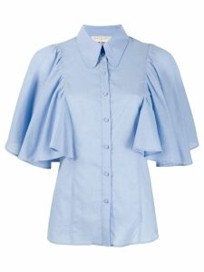 L'Autre Chose ruffle sleeve shirt - Blue