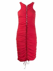 Unravel Project ruched dress - Red