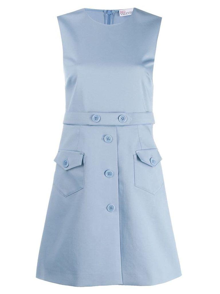 Red Valentino sleeveless shift dress - Blue