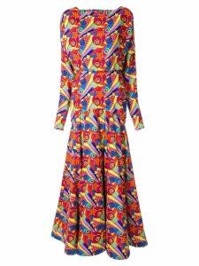 Manish Arora abstract print maxi dress - Multicolour