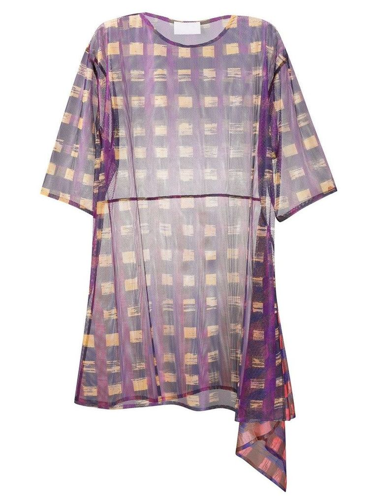 Reality Studio sheer constructed dress - Purple