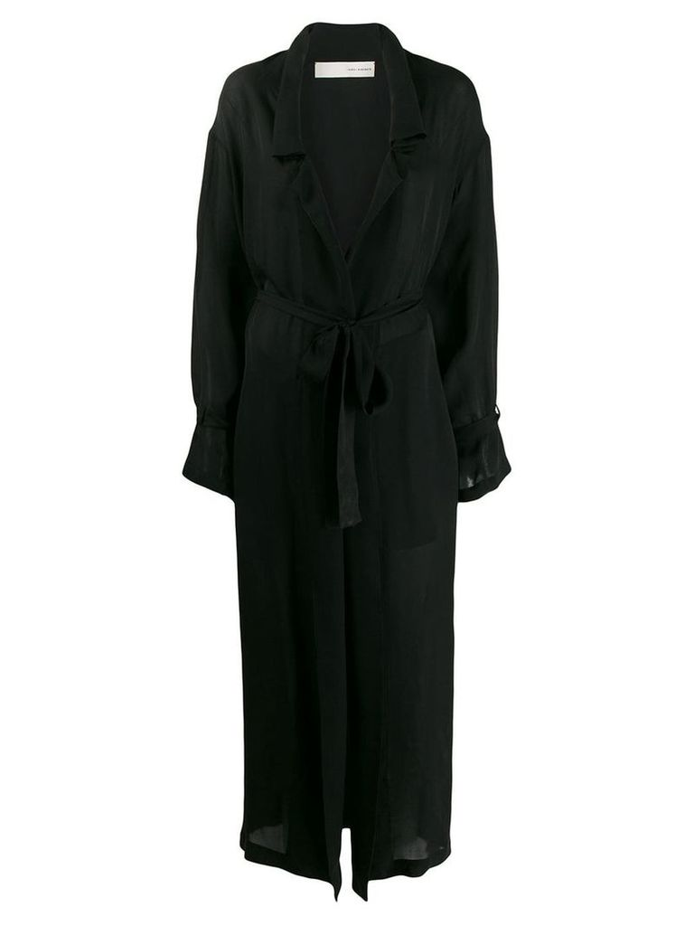 Isabel Benenato relaxed trench coat - Black
