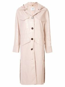 Nanushka hooded duster coat - Pink
