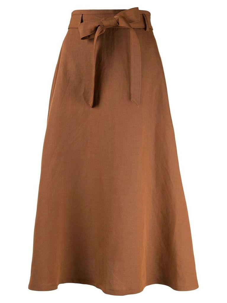 Ballsey tie waist midi skirt - Brown