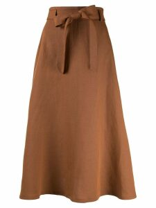 Ballsey tie waist midi skirt - Brown
