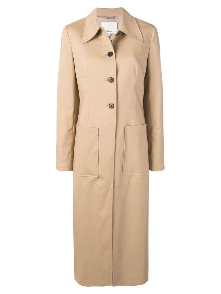 3.1 Phillip Lim panelled midi coat - Neutrals
