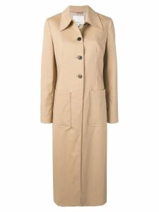 3.1 Phillip Lim panelled midi coat - Neutrals