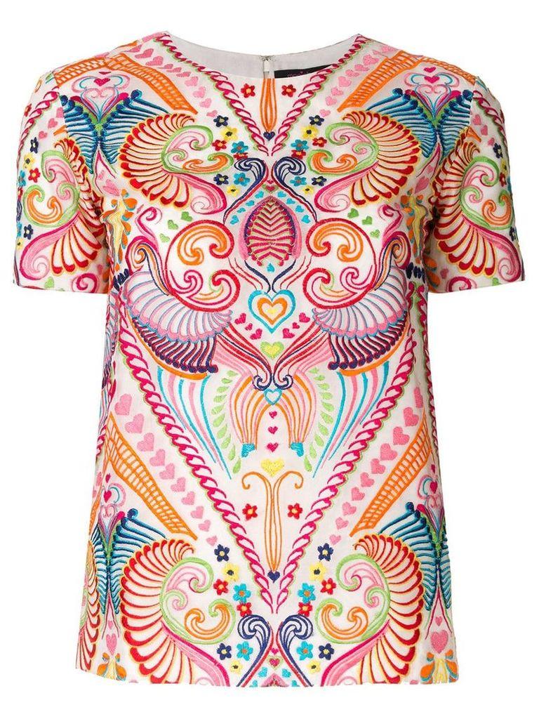 Manish Arora ethnic embroidered top - Multicolour