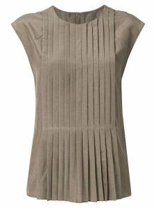 Des Prés pleated blouse - Brown