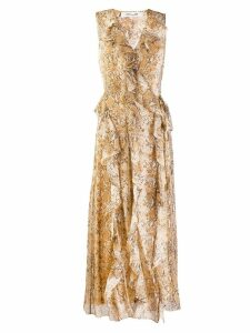 Diane von Furstenberg animal print chiffon dress - Neutrals