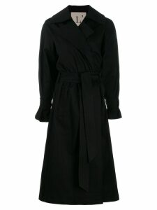 L'Autre Chose wrap style trench coat - Black