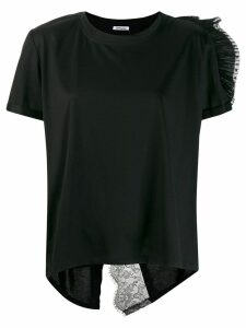 Parlor lace detail T-shirt - Black