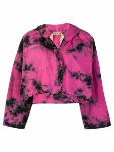 Nº21 tie dye cropped jacket - Pink