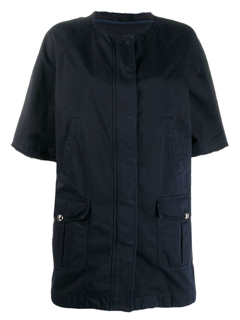 Ermanno Scervino short-sleeved jacket - Blue