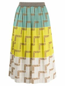 M Missoni patterned pleated skirt - Blue