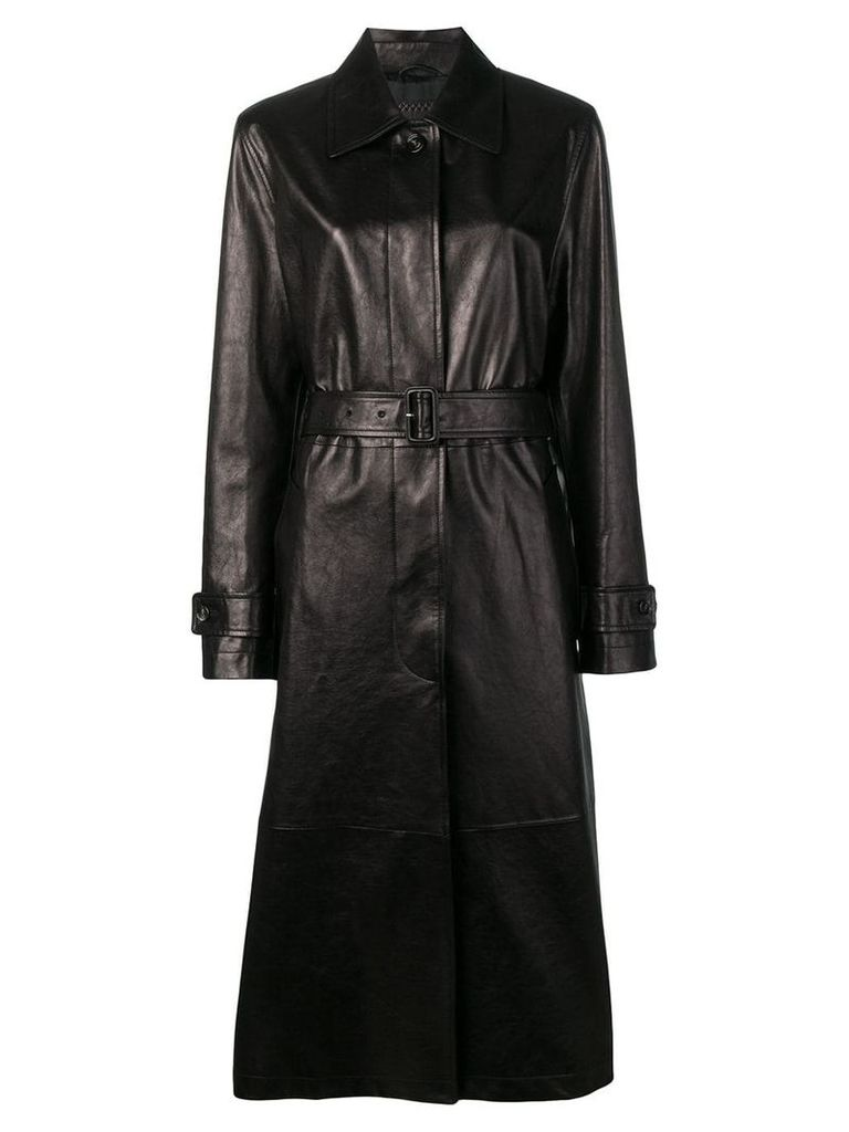 Bottega Veneta leather trench coat - Brown