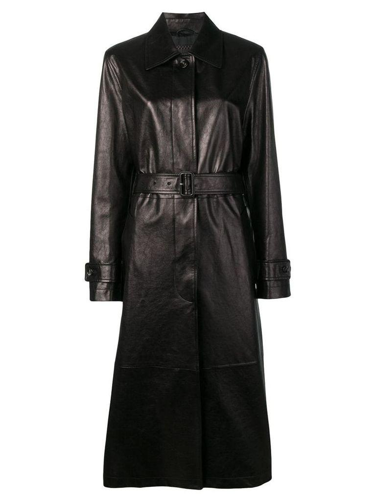 Bottega Veneta leather trench coat - Brown