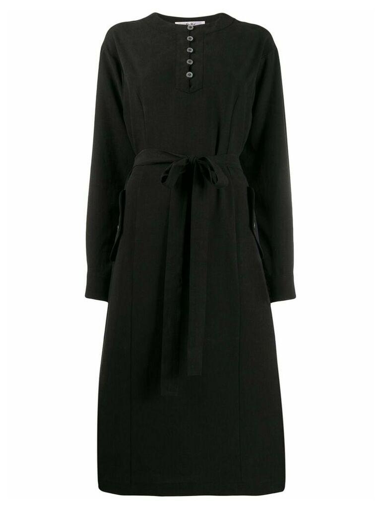 Julien David belted shift dress - Black