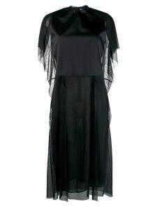 Maison Margiela tulle panneled T-shirt dress - Black