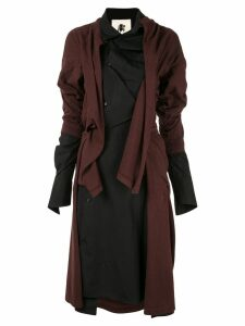 Aganovich deconstructed jersey shirt dress - Brown