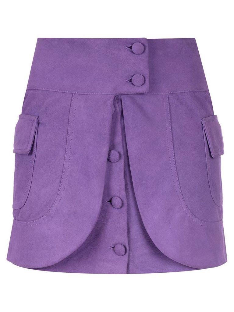 Andrea Bogosian layered leather skirt - Purple
