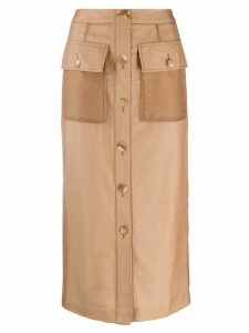 Rejina Pyo buttoned straight skirt - Neutrals
