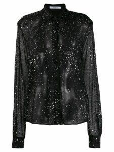 Givenchy crystal studded knit shirt - Black