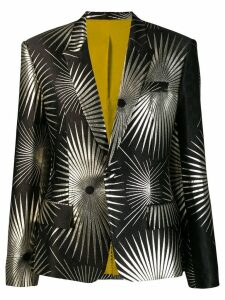 Haider Ackermann printed structured blazer - Black