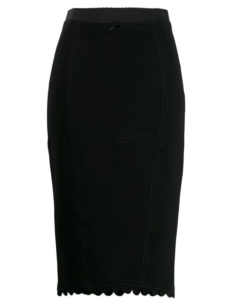 Marco De Vincenzo embroidered details skirt - Black