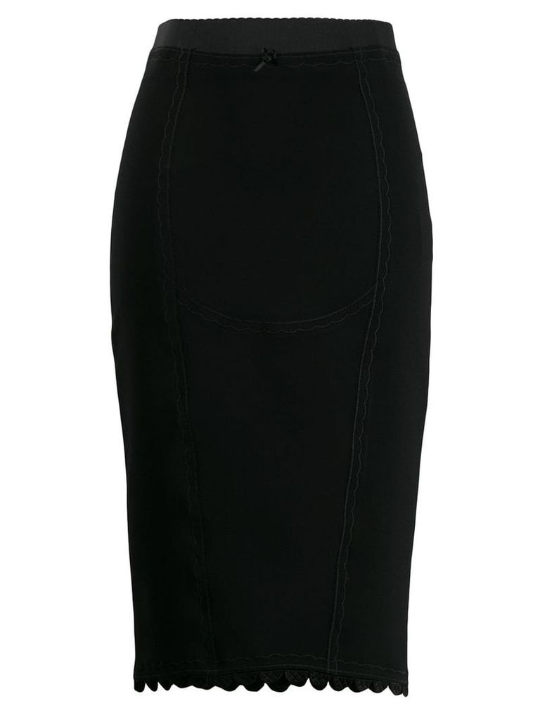 Marco De Vincenzo embroidered details skirt - Black