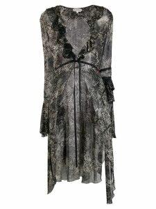 Giacobino snakeskin print kimono - Black
