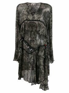 Giacobino snake print dress - Black